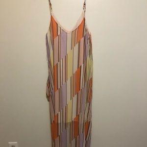 Peach Love STRIPE MAXI DRESS